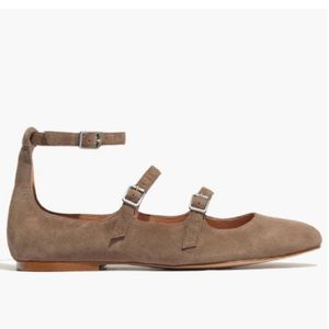 Madewell | The Julie Round Tow Flat In Suede 7.5